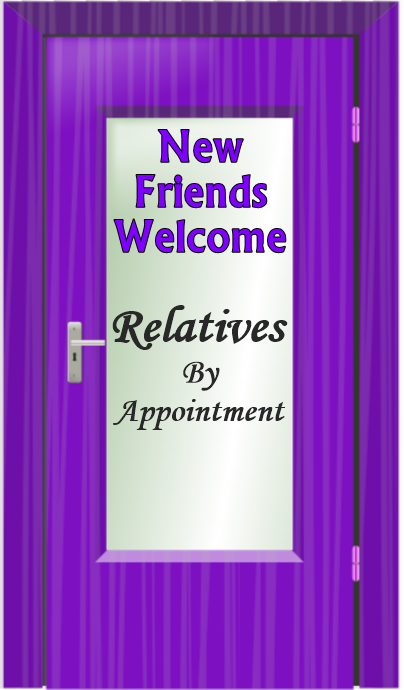 Purple Door Relatives By Appt
